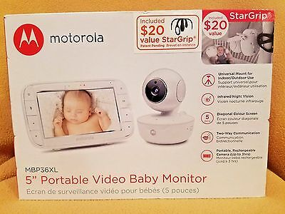 Motorola MBP36XL Portable Video Baby Monitor 5 Inch Color Screen FREE SHIP NEW
