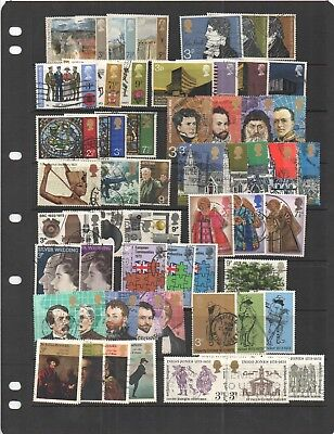 1971 - 79 Great Britain used commemorative sets. Complete, good to fine overall.