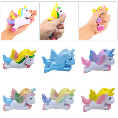 Lot Jumbo Unicorn Squishy Slow Rising Funny Rainbow Ice Cream Toy Relief Gift