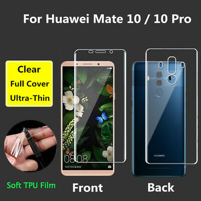 Full Cover TPU Front Back Screen Protective Film For Huawei Mate 10 / 10 Pro Lot