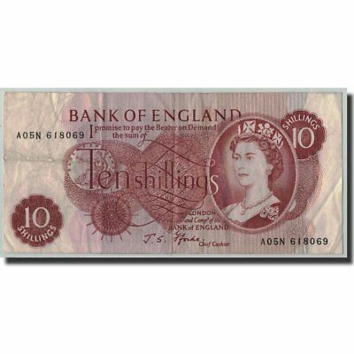[#314912] Banknote, Great Britain, 10 Shillings, Undated (1966-70), KM:373c