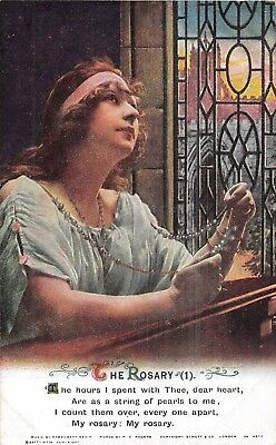 POSTCARD  BAMFORTH     SONG  CARDS   THE  ROSARY    Set  of  3
