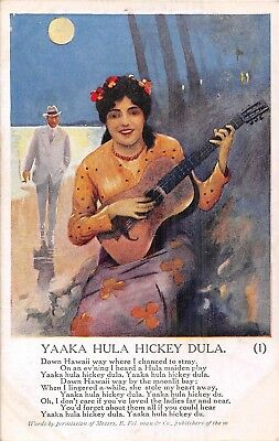 POSTCARD   SONG  CARDS    YAAKA  HULA  HICKEY  DULA   Set  of  3