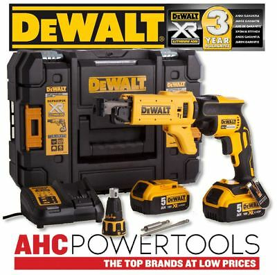 Dewalt DCF620P2K Collated Drywall Screwdriver 18V Cordless Brushless 2 x 5.0Ah
