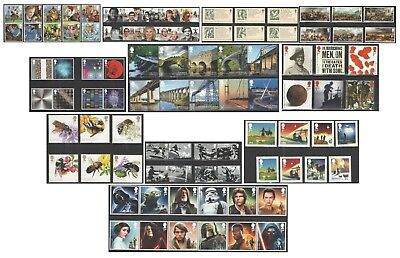 2015 Royal Mail Commemorative Sets. Unmounted Mint. Each sold separately.