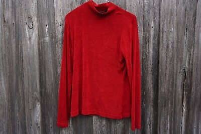 GENUINE VINTAGE Red Turtle Neck Top 70s 1970s - SIZE 12