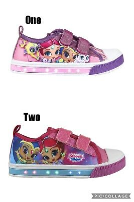 Official Shimmer and shine flashing canvas,pumps shoes, trainers Uk stock