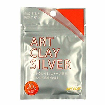 Art Clay Silver Low Fire Clay, 20g Free Shipping with Tracking# New from Japan