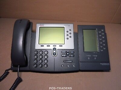 Cisco CP-7962G SCCP SIP Unified VoIP IP Telephone PoE Telefon INCL 7915 EXPANSIO