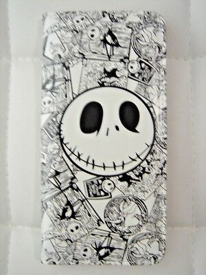 NEW Nightmare Before Christmas Jack Face White Coin Pouch Bag Long Purse Wallet