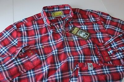 Barbour Steve McQueen Shirt Brit Check Red Slim Fit LS New sizing UK 3XL US XL