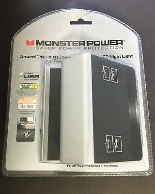 New! Monster Power Small Home Charging Station-4 USB Ports w/ Phone/Tablet Stand