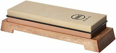 KING KW65 1000/6000 Grit Combination Whetstone with Plastic Base F/S w/Tracking#