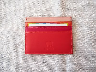 Mywalit Leather Double Sided Credit Card Holder Wallet Brand New