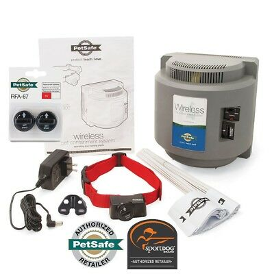 PetSafe Wireless Pet Containment System PIF-300 and 4 Free RFA-67D-11 Batteries