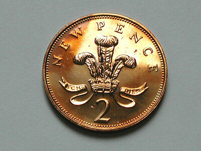 UK (Great Britain) 1971 2 PENCE (2p) Coin - Numismatic Collectors Strike