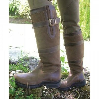 Mark Todd VISION Tall Country Boots Brown Leather Waterproof Ladies Sizes 37- 42