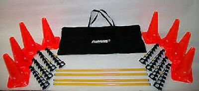 New FitPAWS FPHURD Hurdle Set Bar Jump For Dog Fitness Agility + Carrying Case