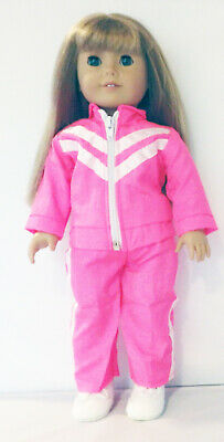 Hot Pink Athleisure Pants Set Fits 18 inch American Girl Dolls