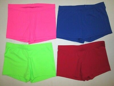 NEW SC MC LC Child Shorts 5 Colors Dance Gymnastics Hot Gym Booty Black Red Pink