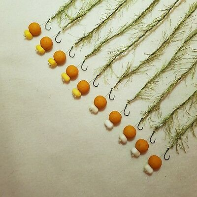10 x WEED EFFECT HAIR RIGS LOADED WITH 15MM SCOPEX OOZE POPUPS FLYNSCOTMAN