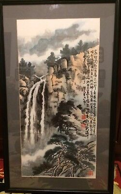 Vintage Chinese Watercolor Painting Landscape