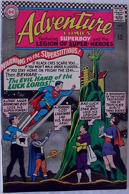 """Adventure Comics #343 (1966) """"The evil hand of the Luck Lords!"""""""