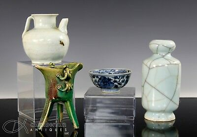 Interesting Lot Of Old Chinese Porcelain Cups Bowls Vase Etc
