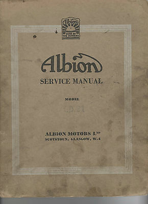Albion Motors Cd21 Clydesdale Service Manual