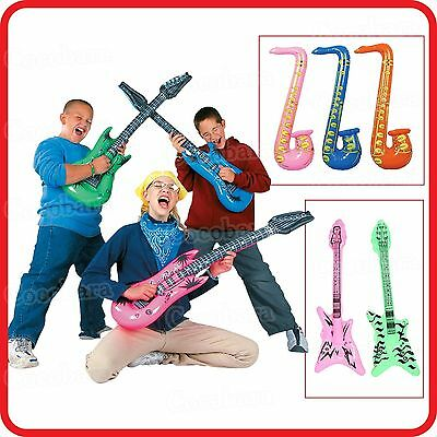 Inflatable Blow-Up Toy-Guitar-Saxophone--Rock & Roll-Music Instruments-Costume