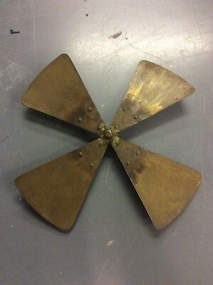 "Antique 1903-05 Westinghouse Electric "" Pancake"" Fan 12"" BRASS BLADE~OEM USA"
