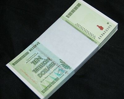 9X Zimbabwe 10 Trillion Dollars | 2008 Aa | 100% Genuine | Over 50 In Stock!