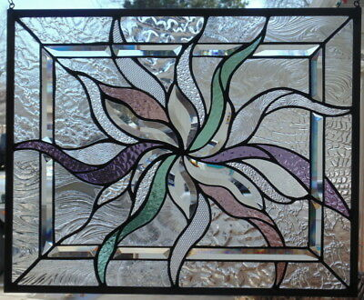 Stained Glass abstract window  hanging