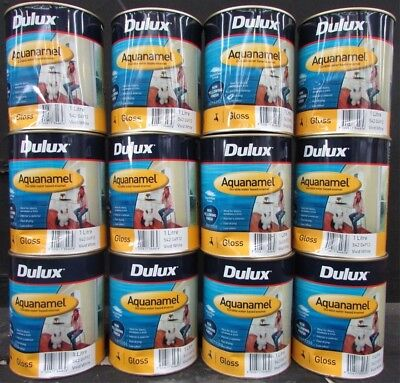 DULUX 1 LITRE AQUANAMEL INT/EXT GLOSS WATER/BASE VIVID-WHITE colour paint