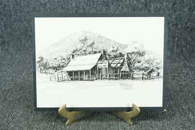 """Vintage Wooden Wall Hanging Plaque Of The Glenrowan Inn 10 1/2"""" X 7 3/4"""""""