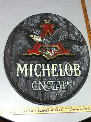 Michelob beer sign bar signs 1 lrg wood like tacker Anheuser-Busch brewery UT2