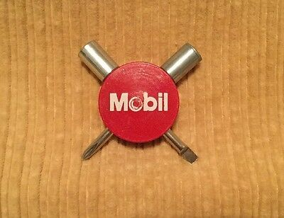 Vintage? Mobil Gas/Oil Advertising Screwdriver/Phillips & Nut driver