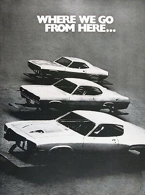 1974 PLYMOUTH 'CUDA DUSTER 360 & ROAD RUNNER Genuine Vintage Advertisement