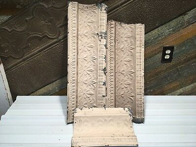 """3pc Lot of 30""""- by 9"""" Antique Ceiling Tin Vintage Reclaimed Salvage Art Craft"""