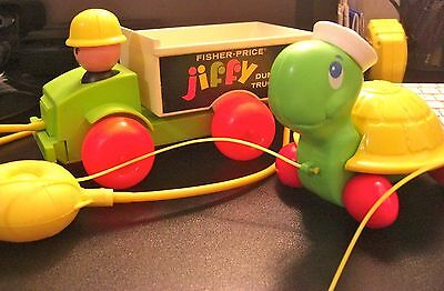 """Great   Clean    Pair Of   """" Fisher Price """"     Pull  Toys      From   1970"""