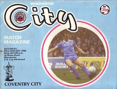 MANCHESTER CITY v COVENTRY 1981/82 FA CUP 4TH ROUND