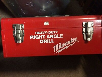 Milwaukee Right Angle Drill 1101-1 with metal case
