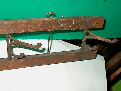 Antique Primitive Country Architectural Coat Hat Hooks For Wall Mount-5 Hooks