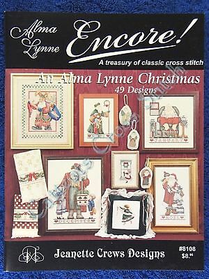 Cross Stitch Pattern Alma Lynne Christmas 49 Designs Ornaments Santa Angel OOP