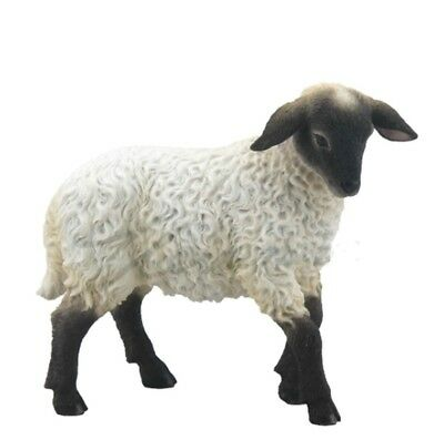"4.25"" Black Face Lamb Statue Animal Home Decor Barn Farm Figure Figurine"