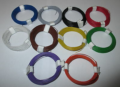 0,1695 €/ M) Decoder Wire Extra Thin 0,04 mm ² 10 Rings A 10M NEW