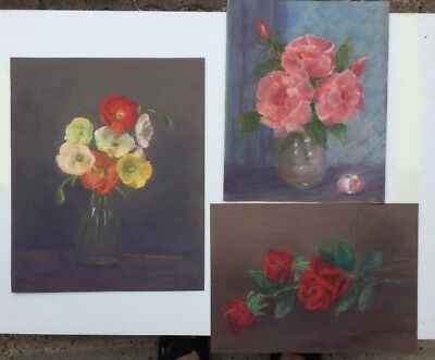Jenny Graig Collection Set Of 3 Pastels Drawings