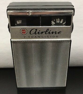 Airline 7 Transistor Short Medium Wave Radio Japan 705 Gen 1156B Montgomery Ward