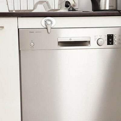 Dream Baby Swivel Appliance Latch Silver Baby Proofing for Appliances 1 PACK