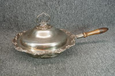 """12.25"""" Wide Towle Silver Plated Vintage Bowl/Warming Pan With Handle And Lid"""